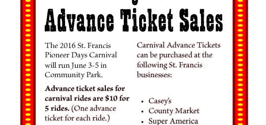 Pioneer Days Carnival Advance Ticket Sales