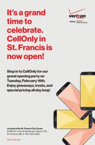 Cell-Only, St. Francis - Grand Opening