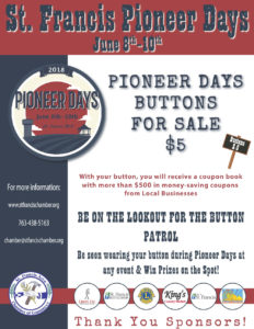 Pioneer Days Buttons and Coupon Books