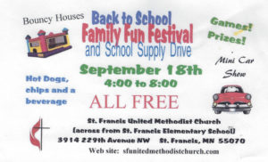 Family Fun Festival @ St. Francis United Methodist Church | Saint Francis | Minnesota | United States