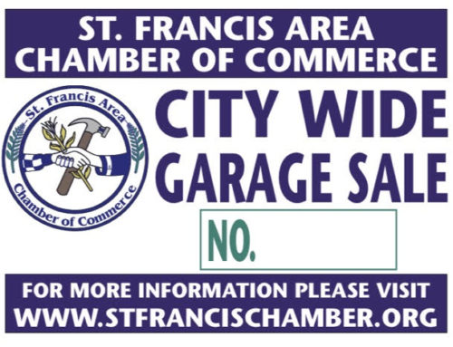 Reminder: St. Francis City Wide Garage Sales Tomorrow… Food Trucks at SF Community Park