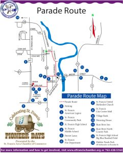 Pioneer Days Parade Route