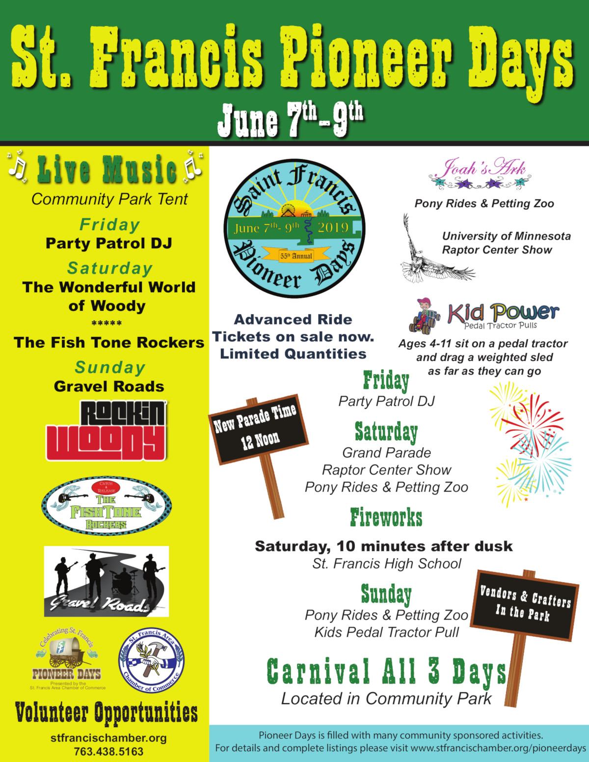 Pioneer Days 2019 Featured Events